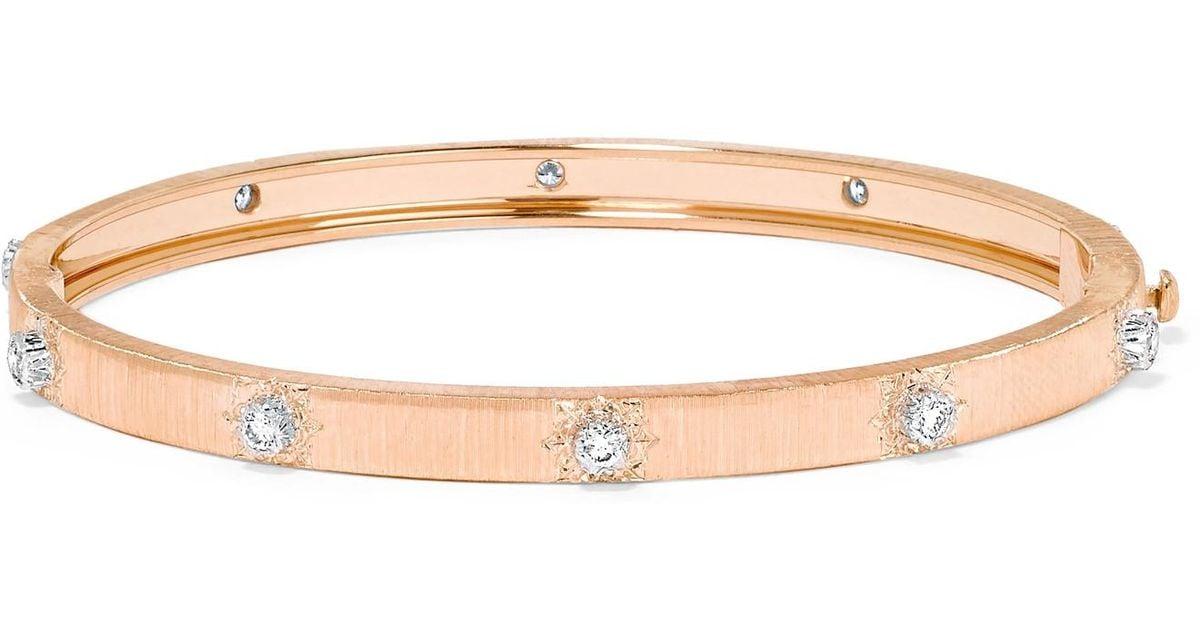 Buccellati Macri 18-karat Yellow And White Gold Diamond Bracelet SAQh1CnbFj