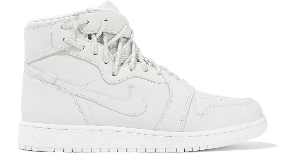 5e58e86f869a45 Nike The 1 s Reimagined Air Jordan 1 Rebel Suede-trimmed Leather Sneakers  in White - Lyst