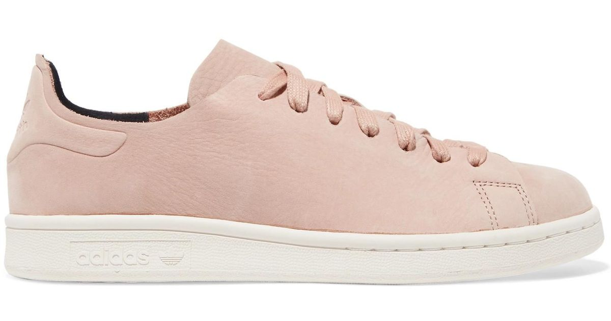 bc530f0a83ee adidas Originals Stan Smith Nuud Nubuck Sneakers in Pink - Lyst
