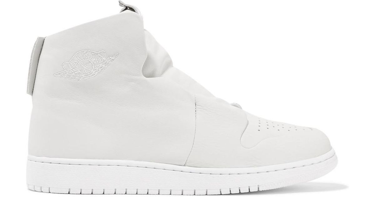 842a01acce9ca7 Nike The 1 s Reimagined Air Jordan 1 Sage Suede And Leather Slip-on High-top  Sneakers in White - Lyst