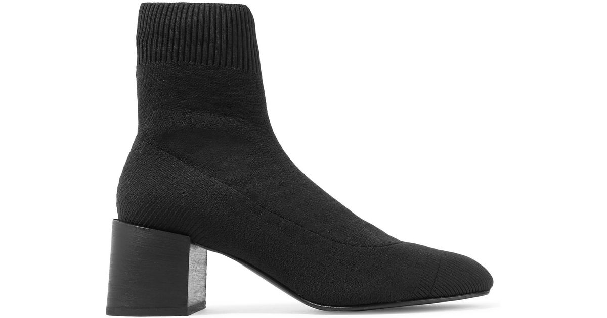 6e4eaf3110f Acne Studios Ribbed-knit Sock Boots in Black - Lyst