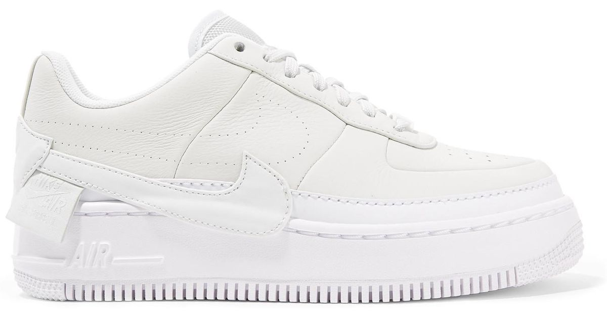 sports shoes 61c81 761d3 Nike The 1's Reimagined Air Force 1 Jester Xx Textured-leather Platform  Sneakers in White - Lyst