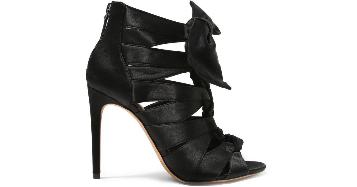 81f729f7e9a Lyst - Alexandre Birman Layla Bow-embellished Satin Sandals in Black