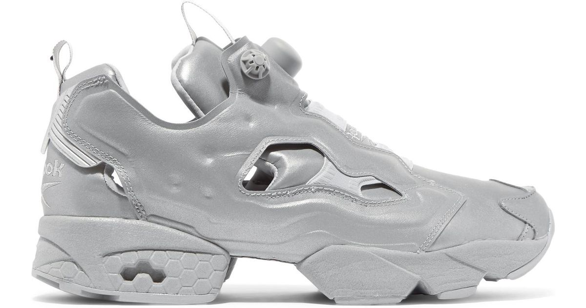 f756ce5be65528 Lyst - Vetements Reebok Instapump Fury Reflective Leather Sneakers in Gray  - Save 69%