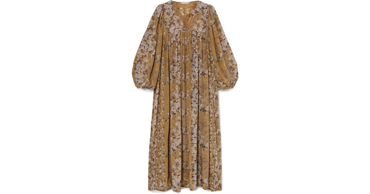 Jalon Floral-print Crepe Midi Dress - Sage green Mes Demoiselles... mAJc24