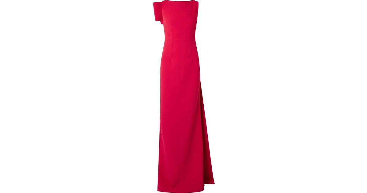 Celestia Draped Stretch-crepe Gown - Crimson SAFiYAA BinNNVd