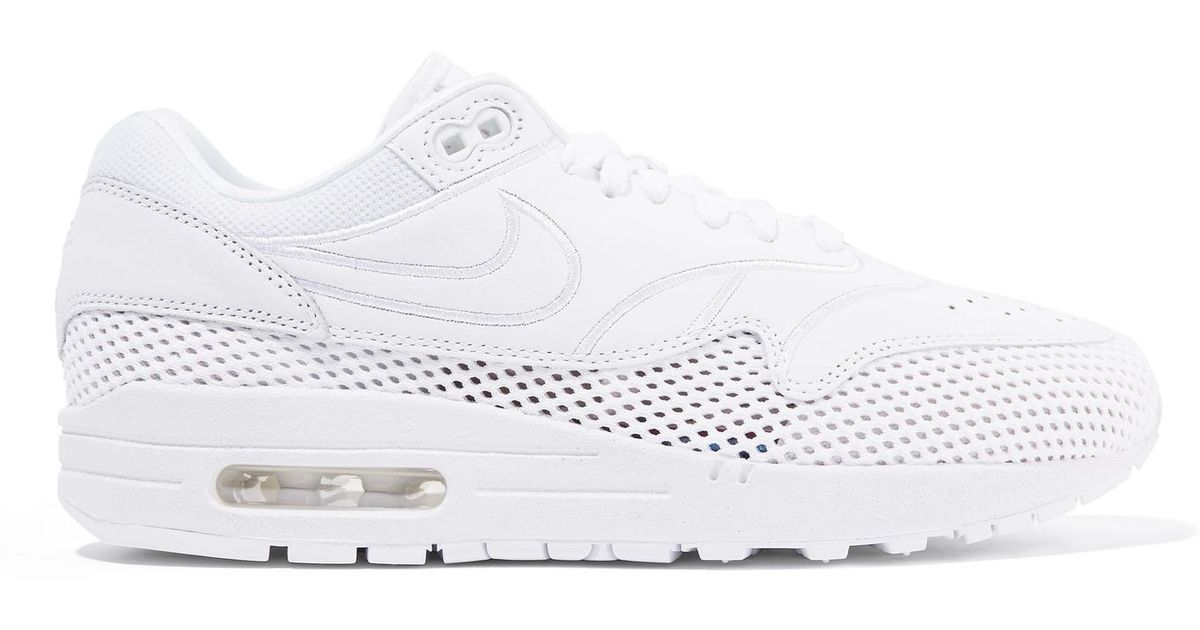a5440285b8ee Lyst - Nike Air Max 1 Si Leather And Mesh Sneakers in White