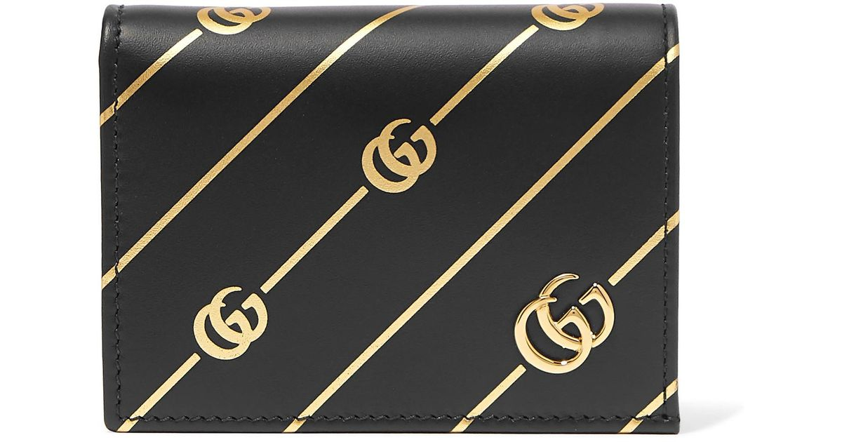 f08415599d8 Lyst - Gucci Printed Leather Cardholder in Black