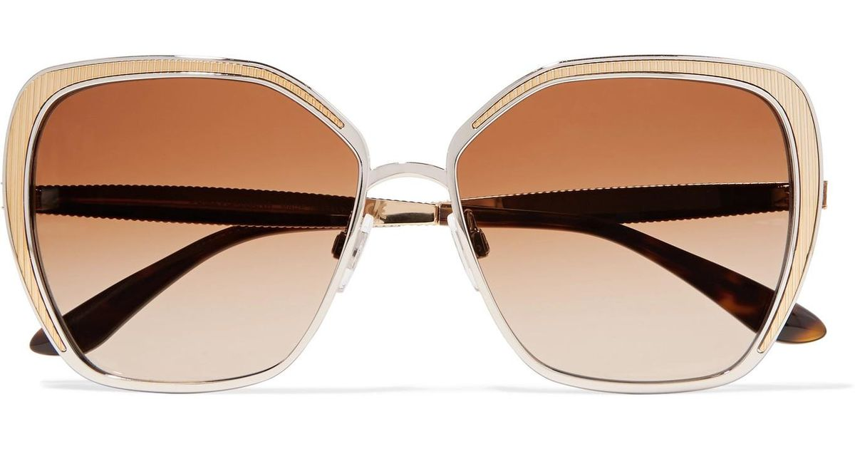 fcd8ccca90 dolce-gabbana-gold-Butterfly-frame-Silver-And-Gold-tone-Sunglasses -Gold-One-Size.jpeg