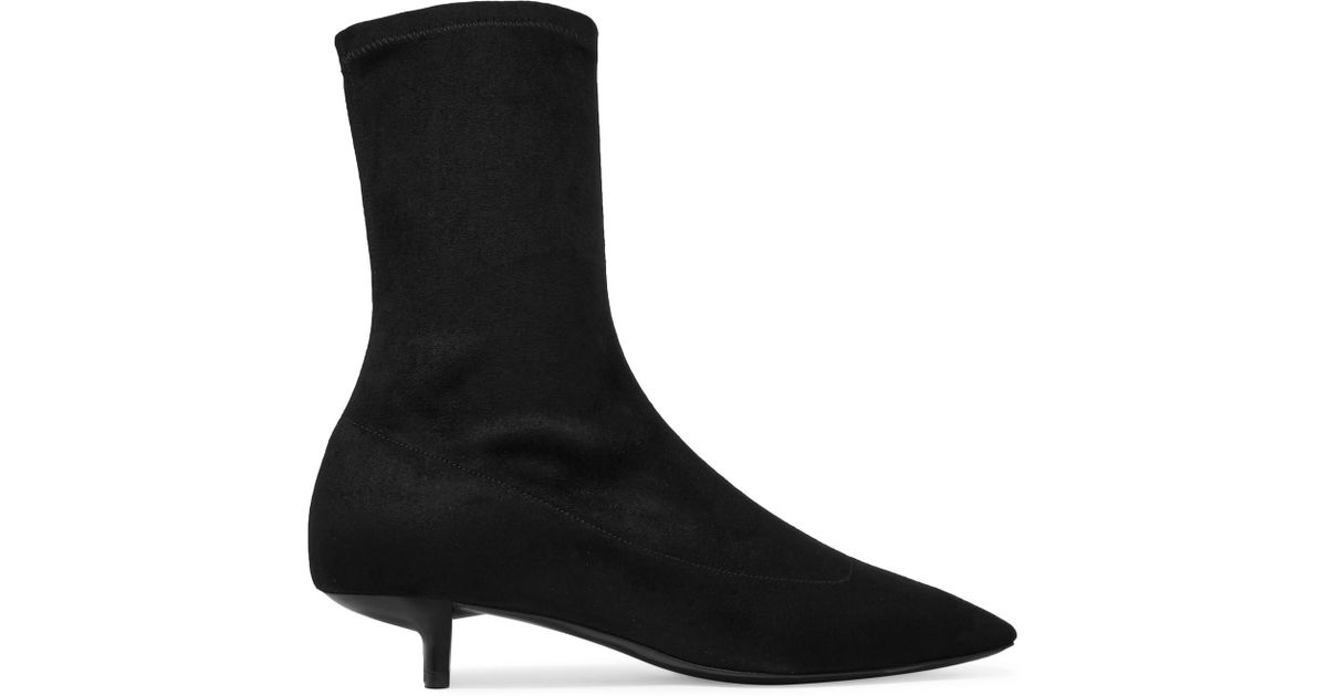 Black Faux-Leather Sock Boots Stella McCartney HnPqIYyNrT