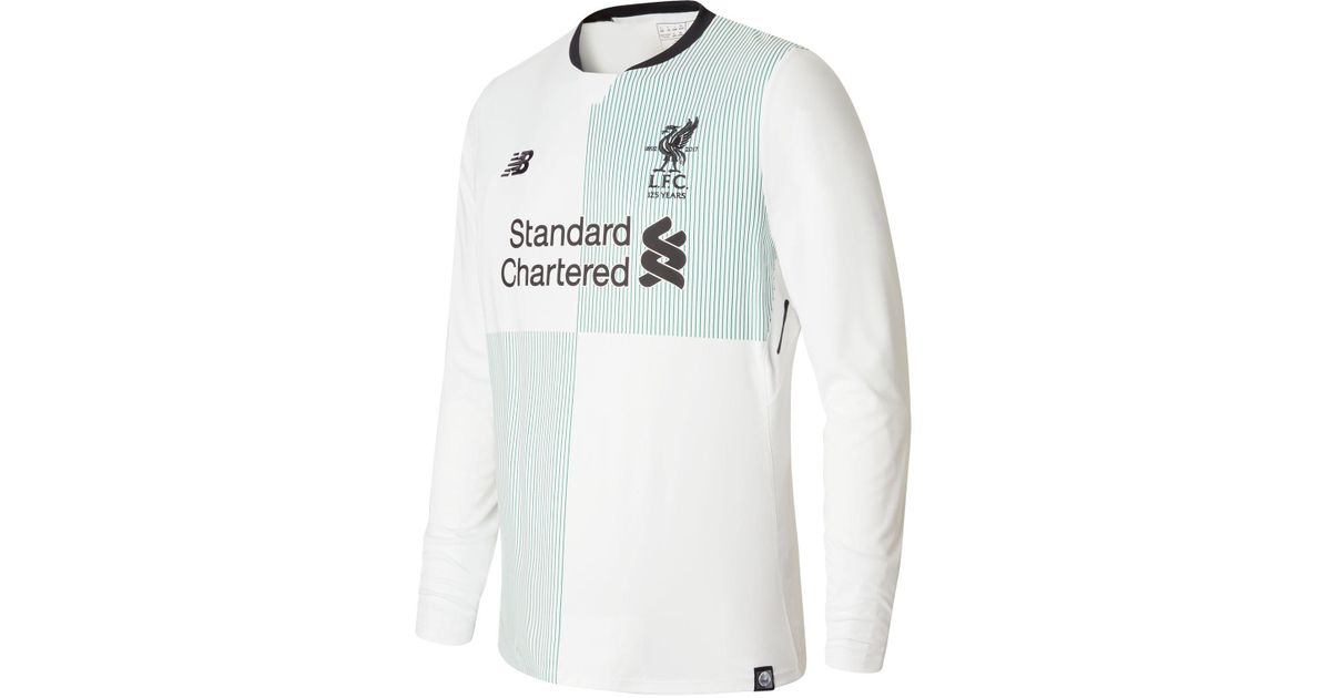 low priced 1356a cd718 New Balance - White Lfc Mens Firmino Away Ls No Patch Jersey for Men - Lyst