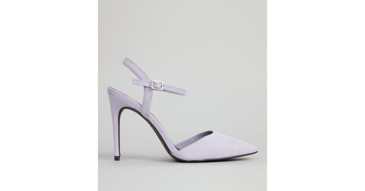 475247e9b78 New Look Lilac Ankle Strap Pointed Court Shoes in Purple - Lyst