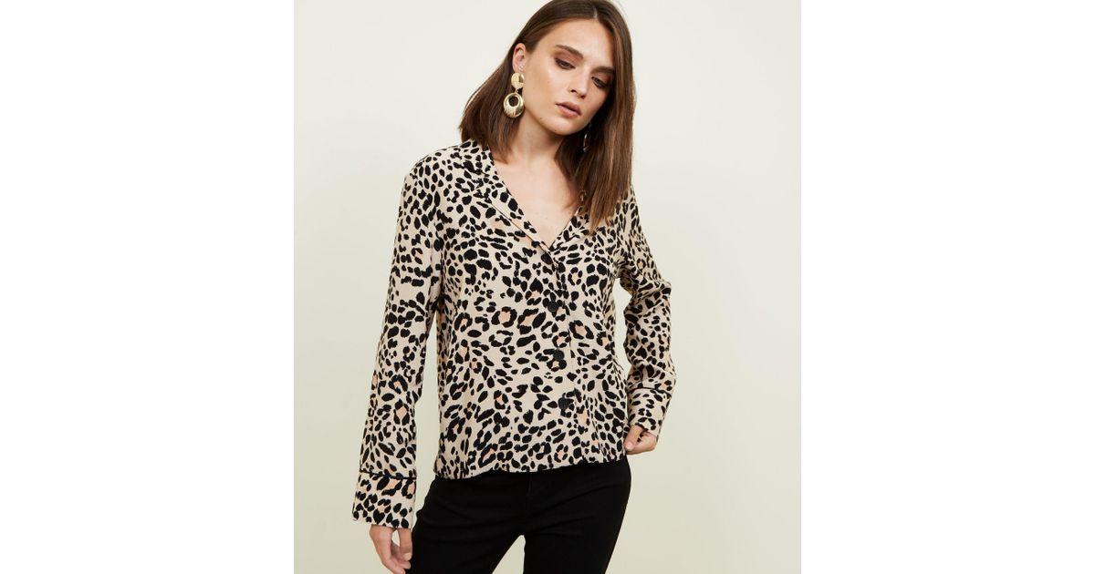 5ffa0011db New Look Leopard Print Shirt in Brown - Lyst