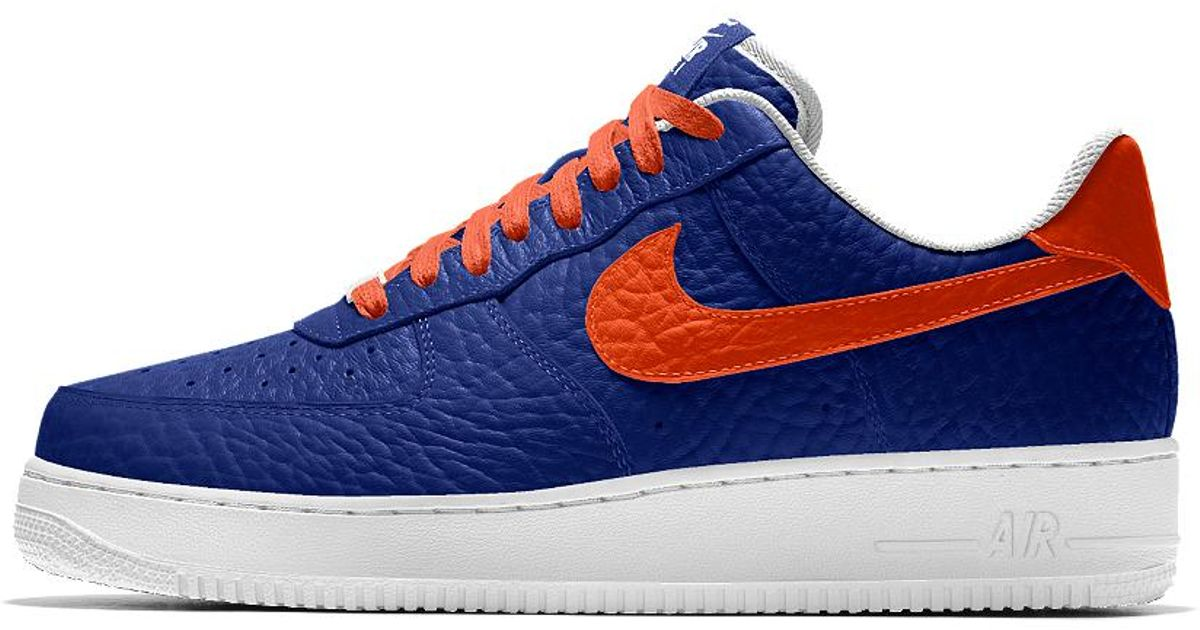 new product 46c33 c3e8e Lyst - Nike Air Force 1 Low Premium Id (new York Knicks) Mens Shoe in Blue  for Men