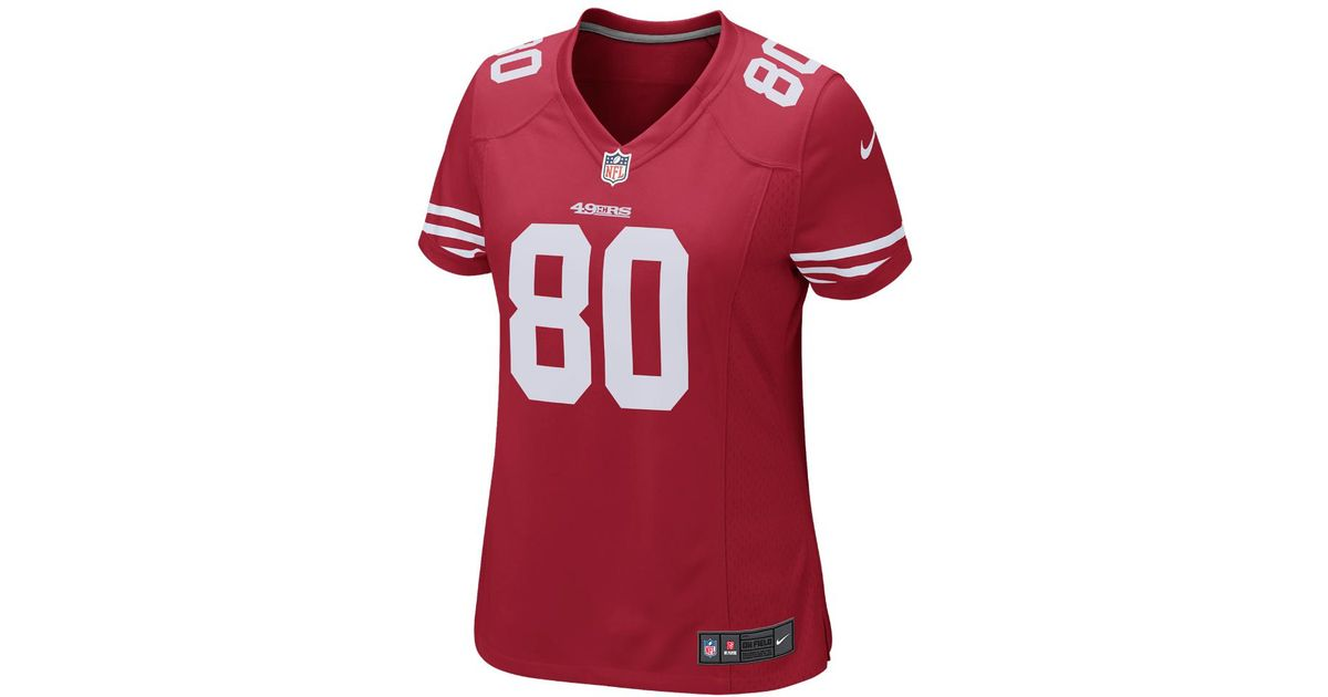 new product b4a50 ffc34 Nike - Red Nfl San Francisco 49ers (jerry Rice) Women's Football Home Game  Jersey - Lyst