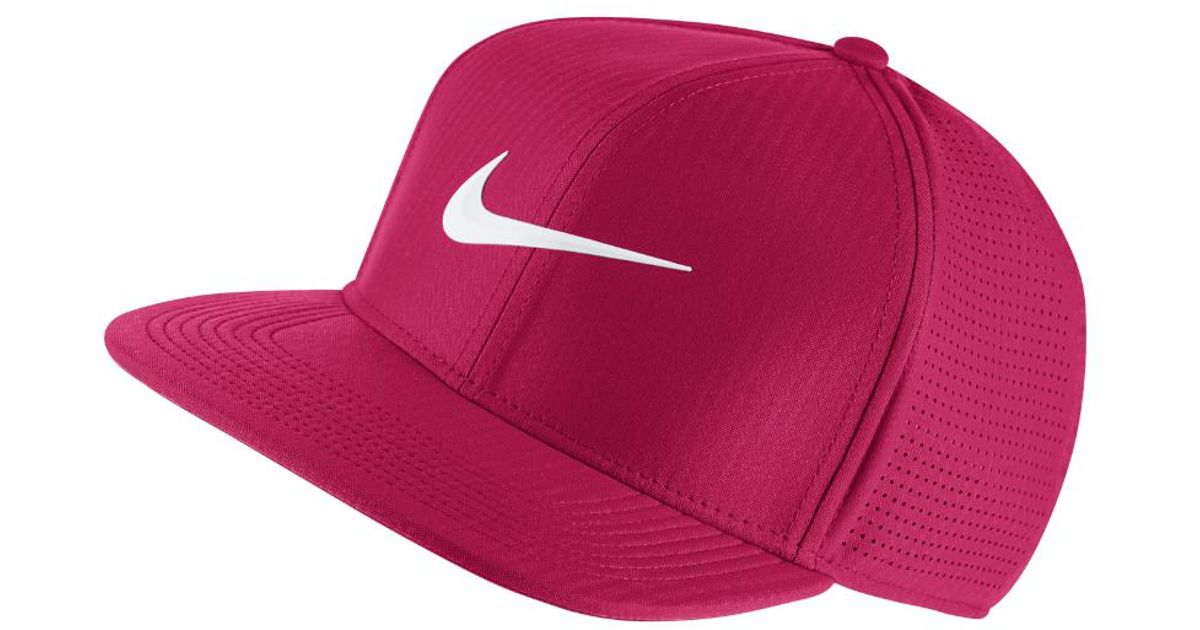 Lyst - Nike Aerobill Adjustable Golf Hat (pink) in Pink for Men f26855adf6c