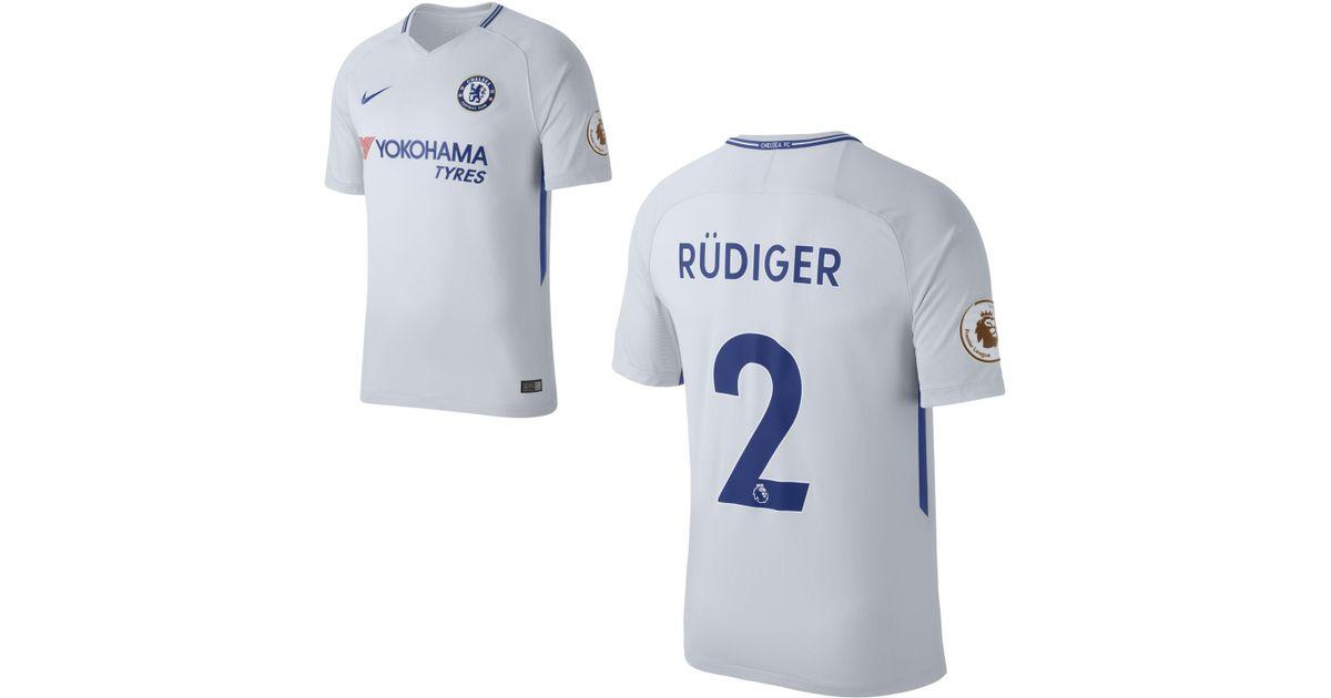 reputable site f495e 4463d Nike - Metallic 2017/18 Chelsea Fc Stadium Away (antonio Rüdiger) Football  Shirt for Men - Lyst