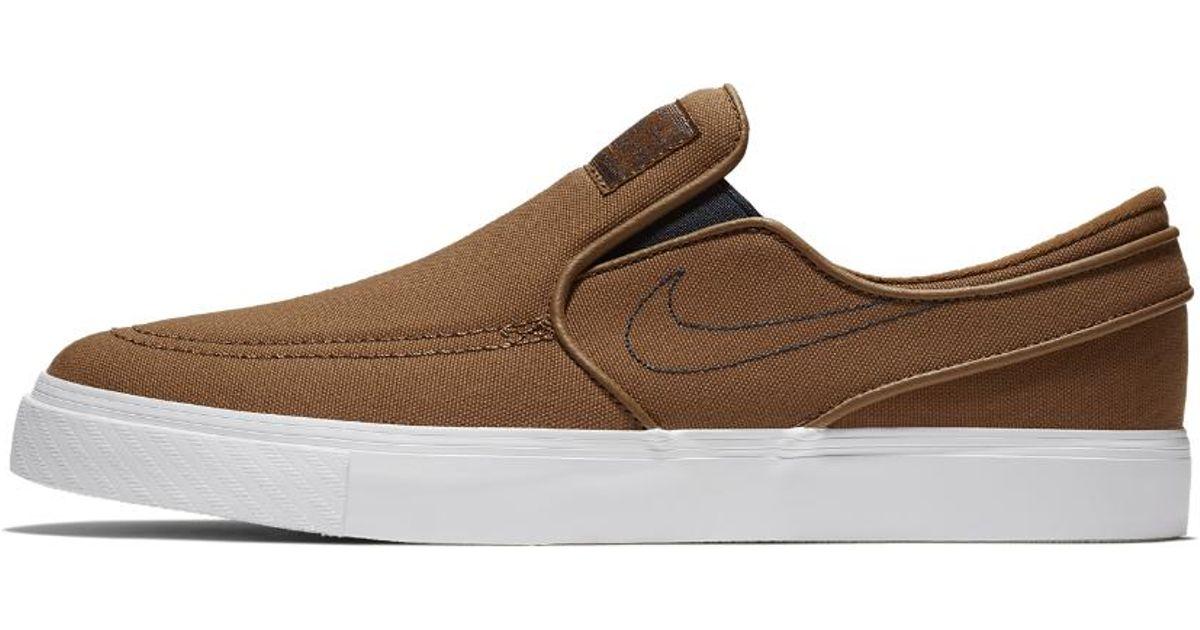 new products a150f 71968 Nike Sb Zoom Stefan Janoski Slip-on Canvas Men s Skateboarding Shoe in  Brown for Men - Lyst