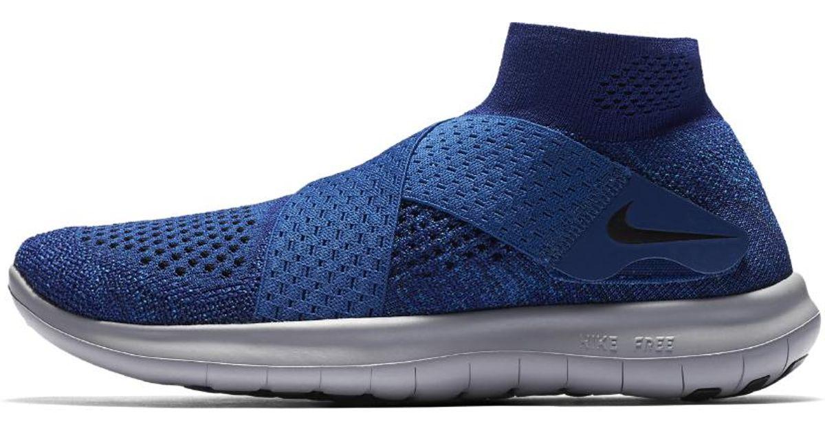 6e5fd524d5a Lyst - Nike Free Rn Motion Flyknit 2017 Women s Running Shoe in Blue