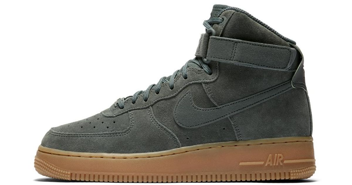 competitive price 85b54 9d9ea Lyst - Nike Air Force 1 High Se Womens Shoe in Green