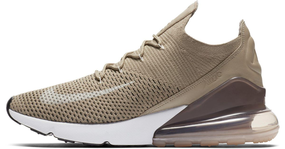cheap for discount 0cab0 4f40e Nike Air Max 270 Flyknit Shoe in Natural for Men - Lyst