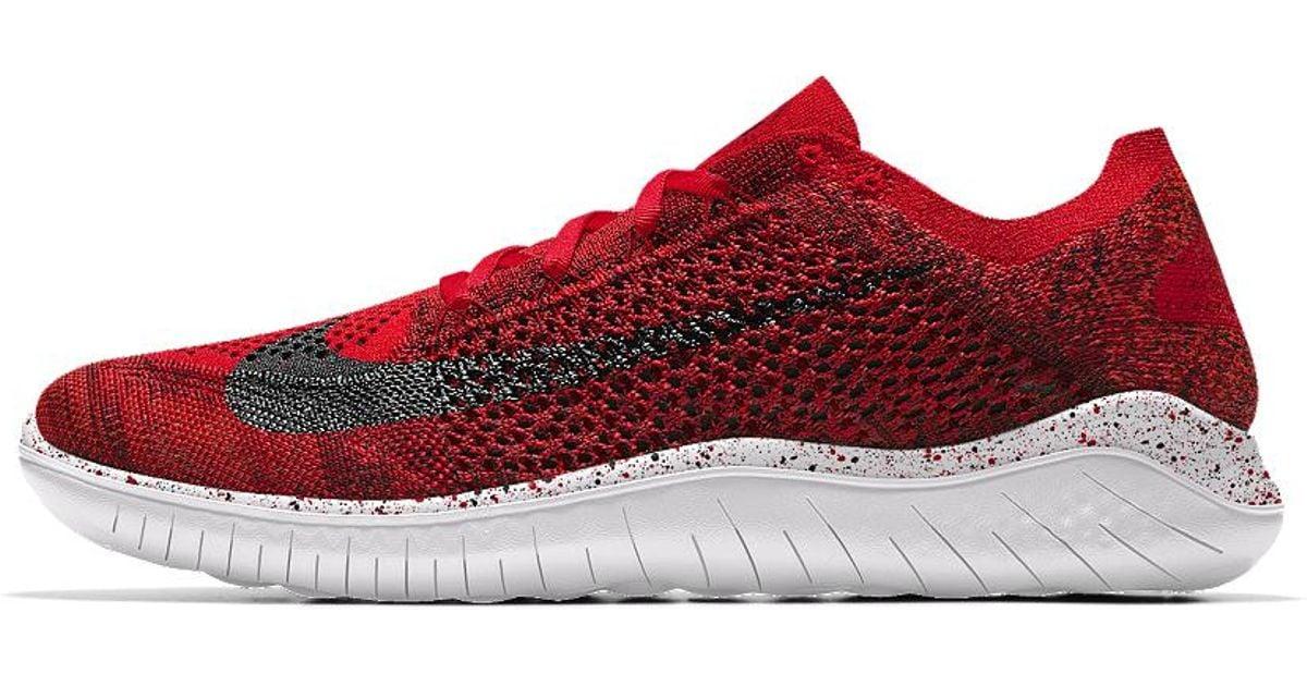 db97585028b Lyst - Nike Free Rn Flyknit 2018 Id Men s Running Shoe in Red for Men