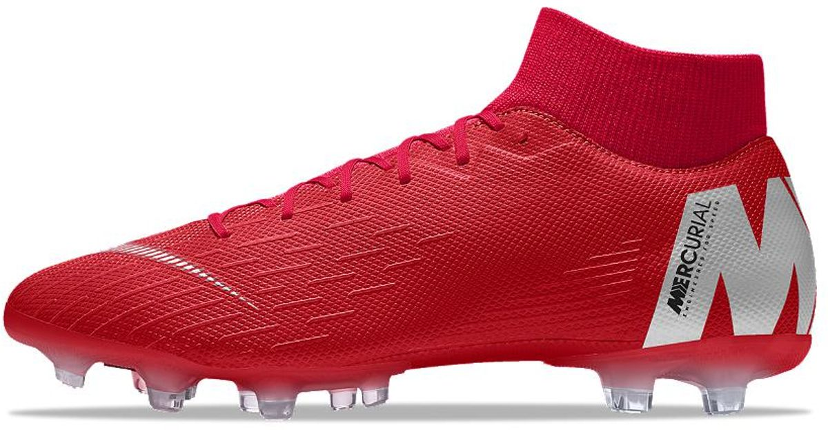d3ee133c75ed3 Lyst - Nike Mercurial Superfly Vi Academy Mg Id Multi-ground Soccer Cleats  in Red for Men