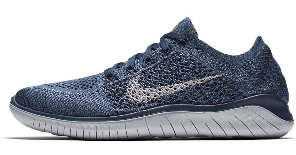 a42046693628 Lyst - Nike Free Rn Flyknit 2018 Women s Running Shoe in Blue