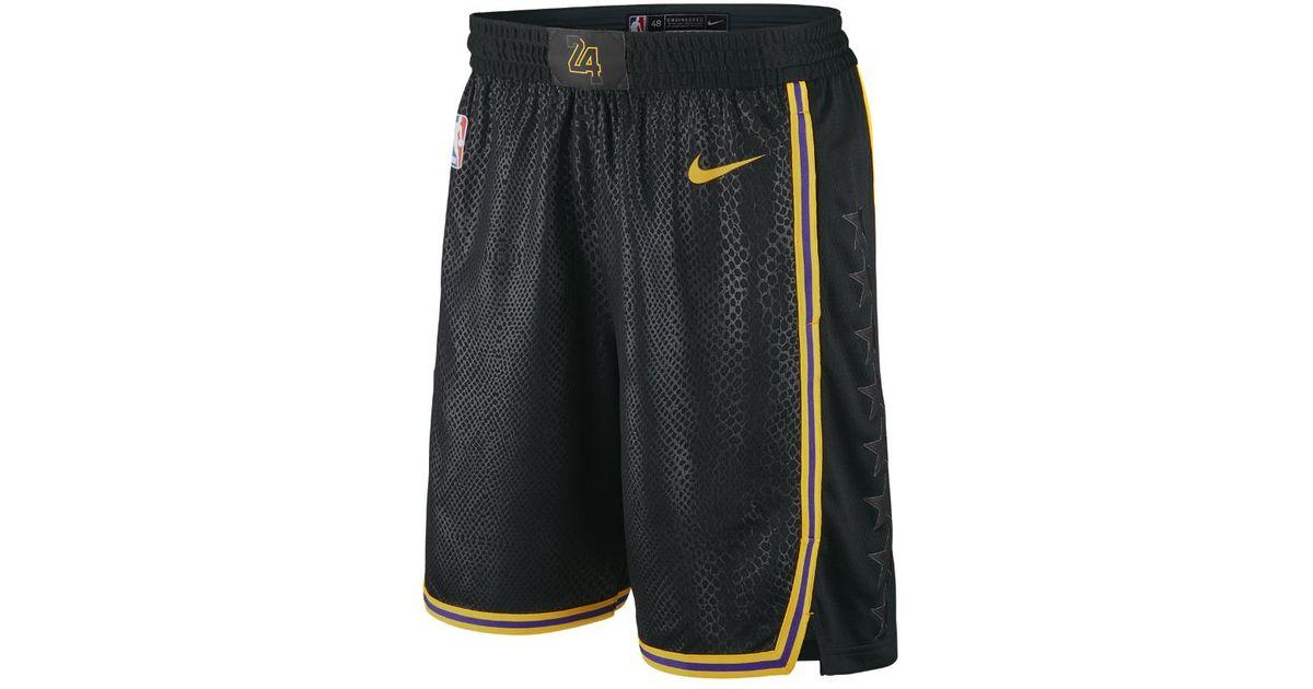 925740534 Lyst - Nike Los Angeles Lakers City Edition Swingman Men s Nba Shorts in  Black for Men