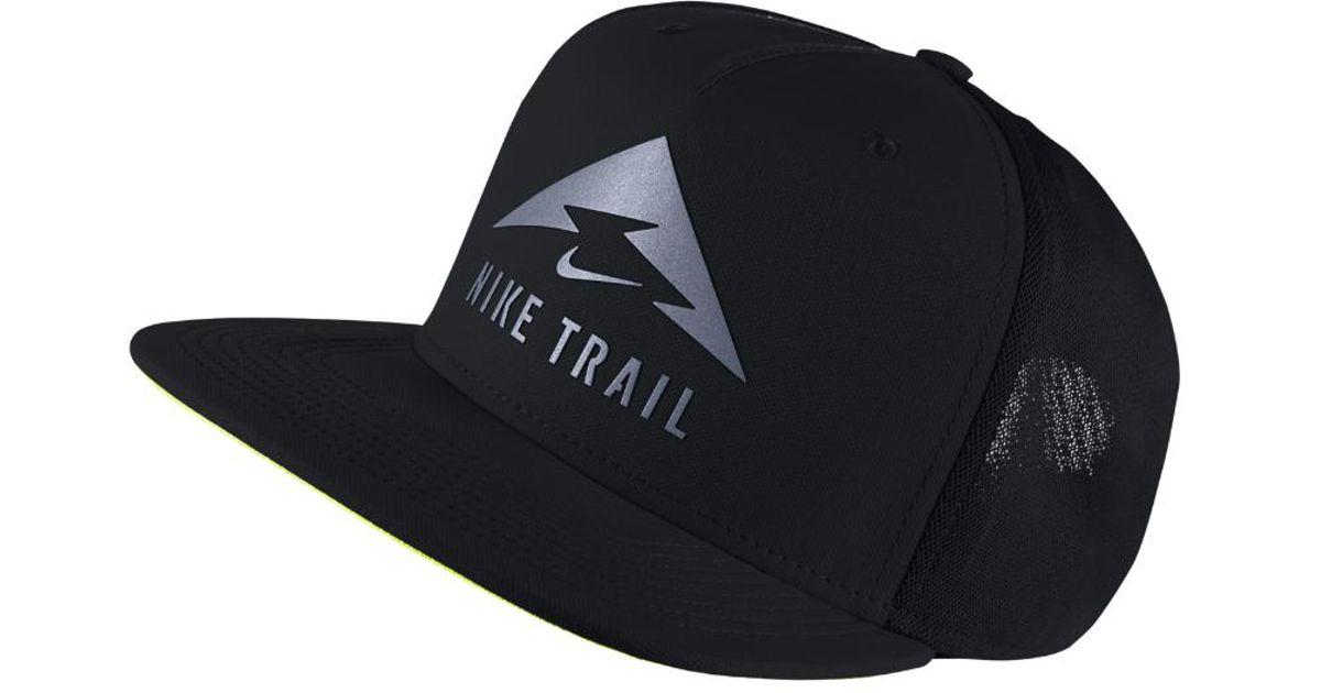 Lyst - Nike Trail Aerobill Trucker Hat (black) in Black for Men fa7378d8193