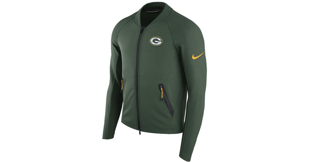 new concept e4d91 62462 Nike - Green Sideline Coaches (nfl Packers) Men's Jacket for Men - Lyst