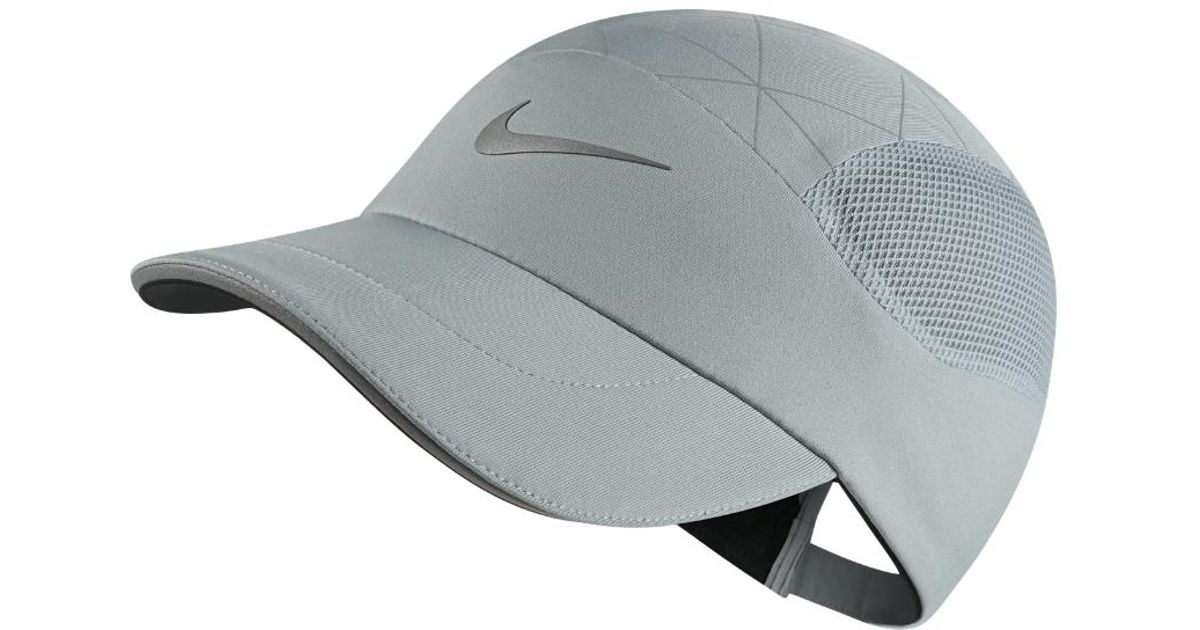 new concept 278bb a8e9b Nike Aerobill Tailwind Adjustable Running Hat (grey) in Gray for Men - Lyst