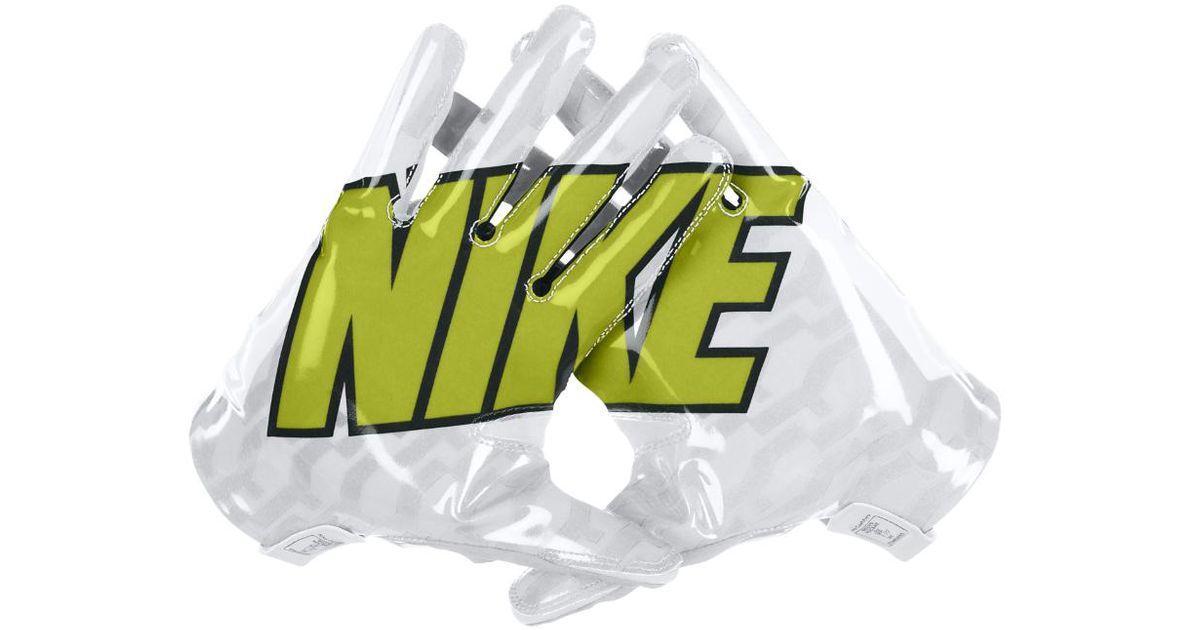 nike vapor fly mens football gloves in white for men lyst