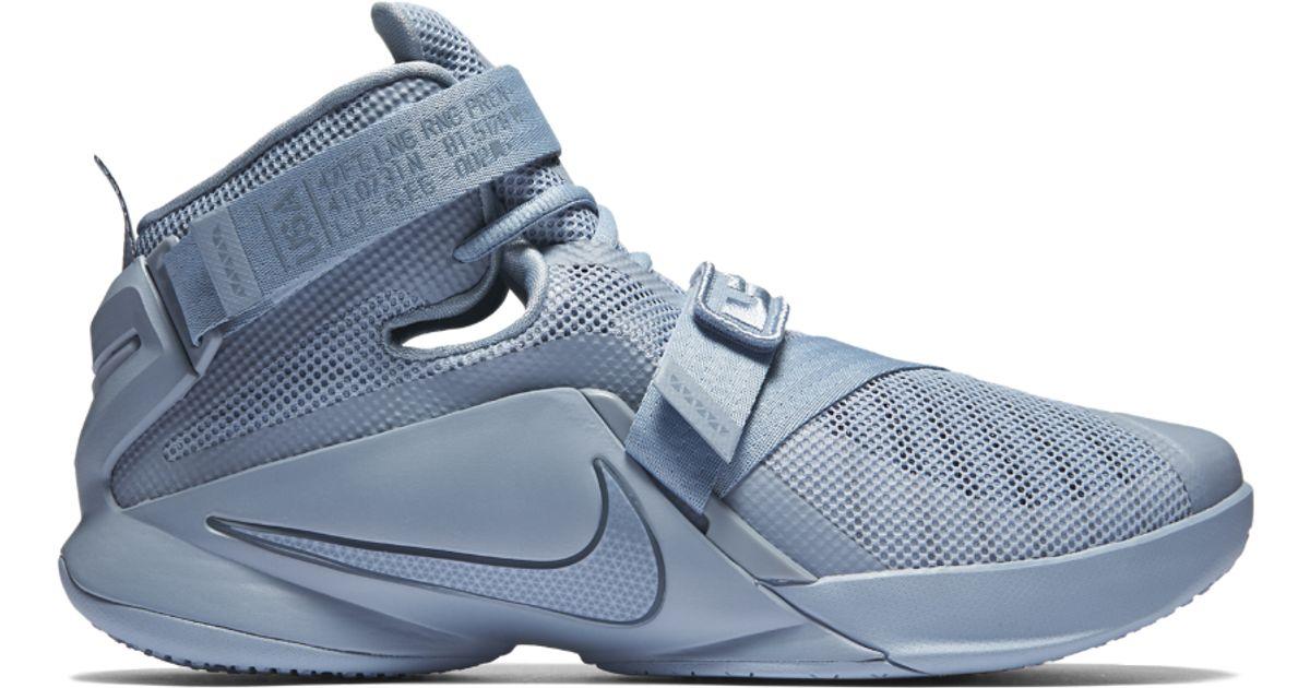 5787dffddfd Lyst - Nike Zoom Lebron Soldier 9 Premium Men s Basketball Shoe in Blue for  Men