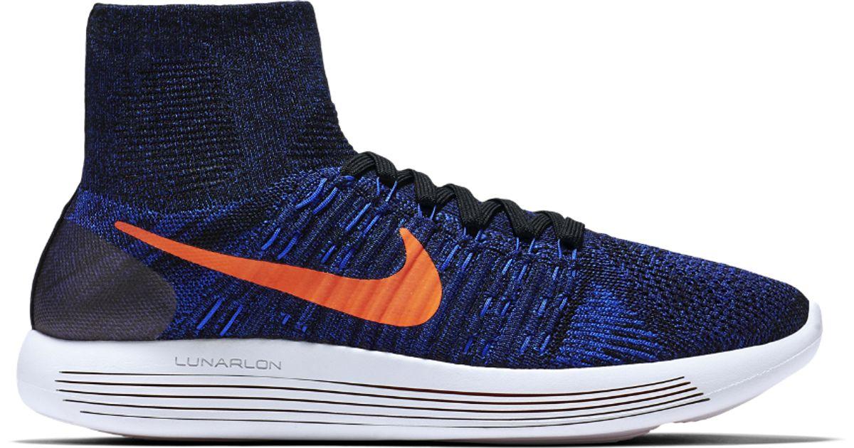 218f770f6f25 Lyst - Nike Lunarepic Flyknit Men s Running Shoe in Blue for Men