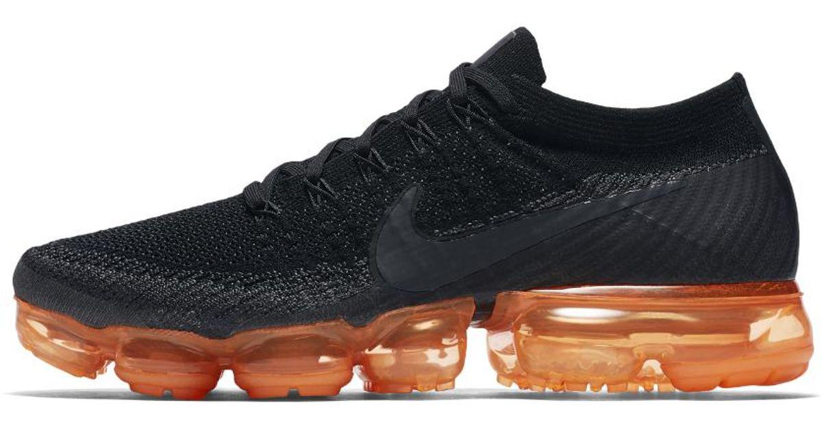 Lyst - Nike Air Vapormax Flyknit Black Pop Men s Running Shoe in Black for  Men 519094e0b614