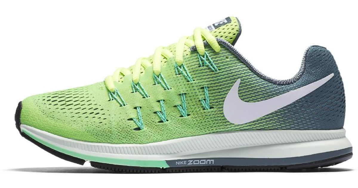 0ca627089d8e ... free shipping lyst nike air zoom pegasus 33 womens running shoe in  green baa7e ac9f8