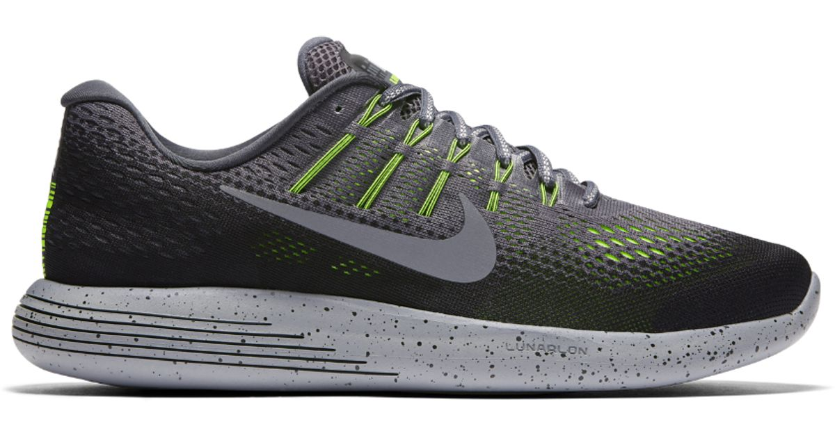 finest selection 3938c 38e48 ... Nike Lunarglide 8 Shield Men s Running Shoe in Gray for Men   Lyst ...