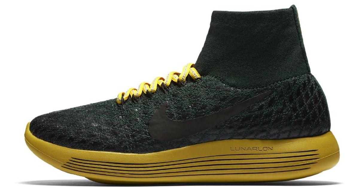 e38c9dd8b6af Lyst - Nike Lab Gyakusou Lunarepic Flyknit Shield Women s Running Shoe in  Black