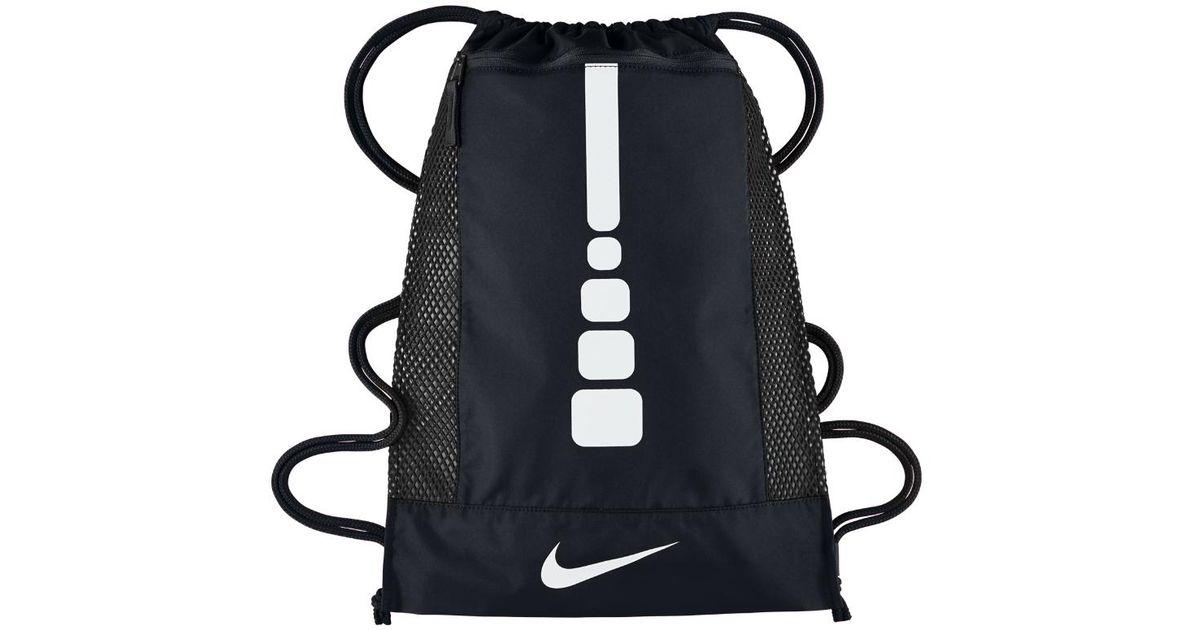 Nike Basketball Hoop: Nike Hoops Elite Basketball Gym Sack (black) In Black For