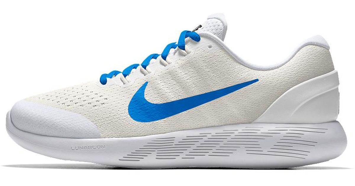 bab88bdc05597 ... sale lyst nike lunarglide 9 id womens running shoe in white c9b4f 3e075