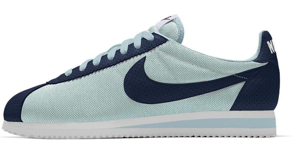 reputable site 20692 c295b Nike Classic Cortez Premium Id Men s Shoe in Blue for Men - Lyst