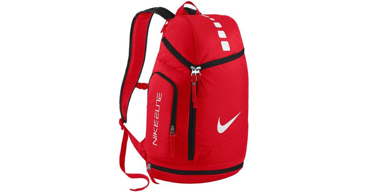 9bd88a5ca5 nike hoops elite max air team id nike hoops elite team backpack in red for men  lyst