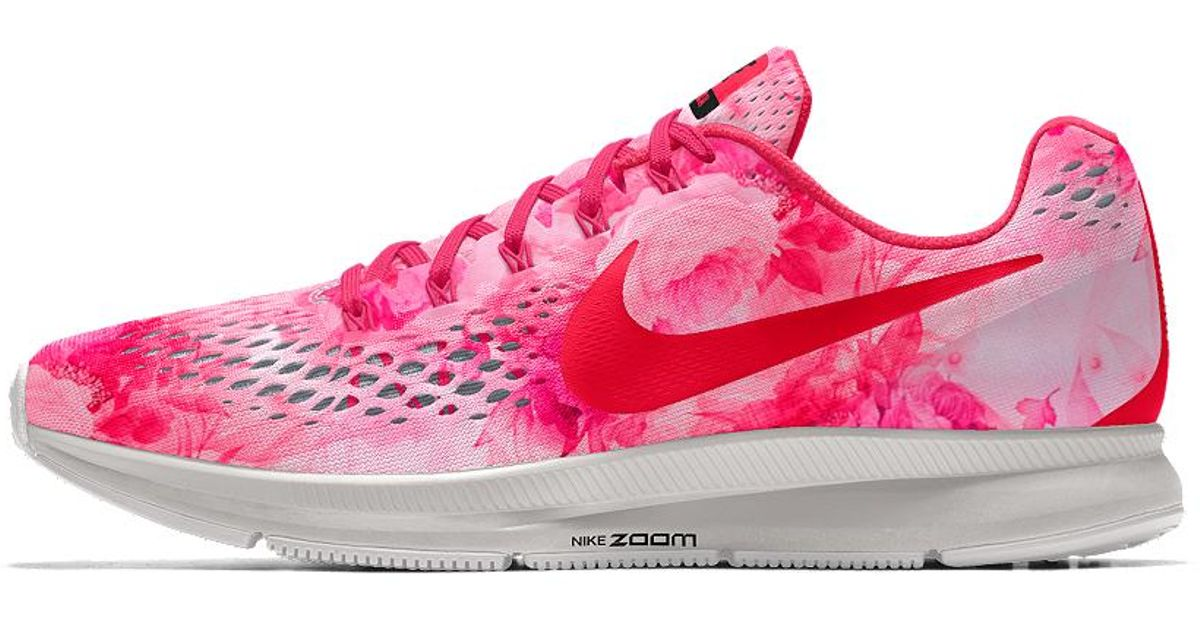 09c35185f3e2 Lyst - Nike Air Zoom Pegasus 34 Gpx Id Women s Running Shoe in Pink