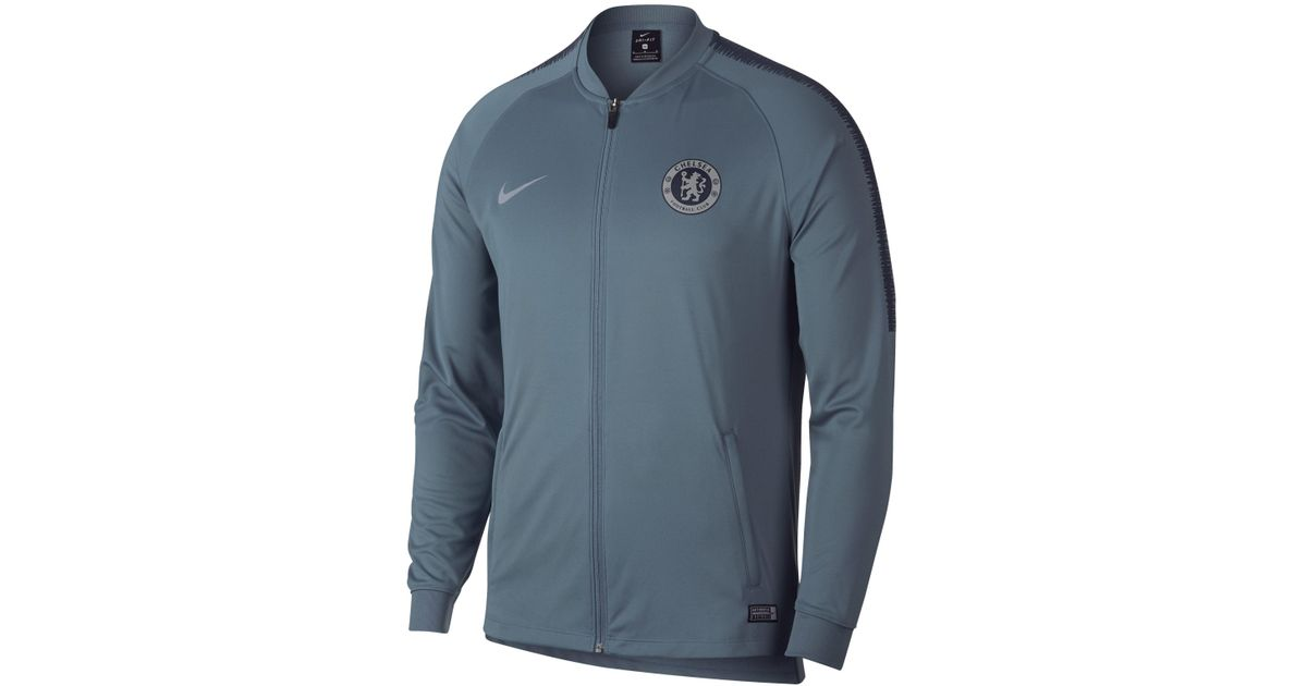c2410cc68 Nike Chelsea Fc Dri-fit Squad Football Track Jacket in Blue for Men - Lyst