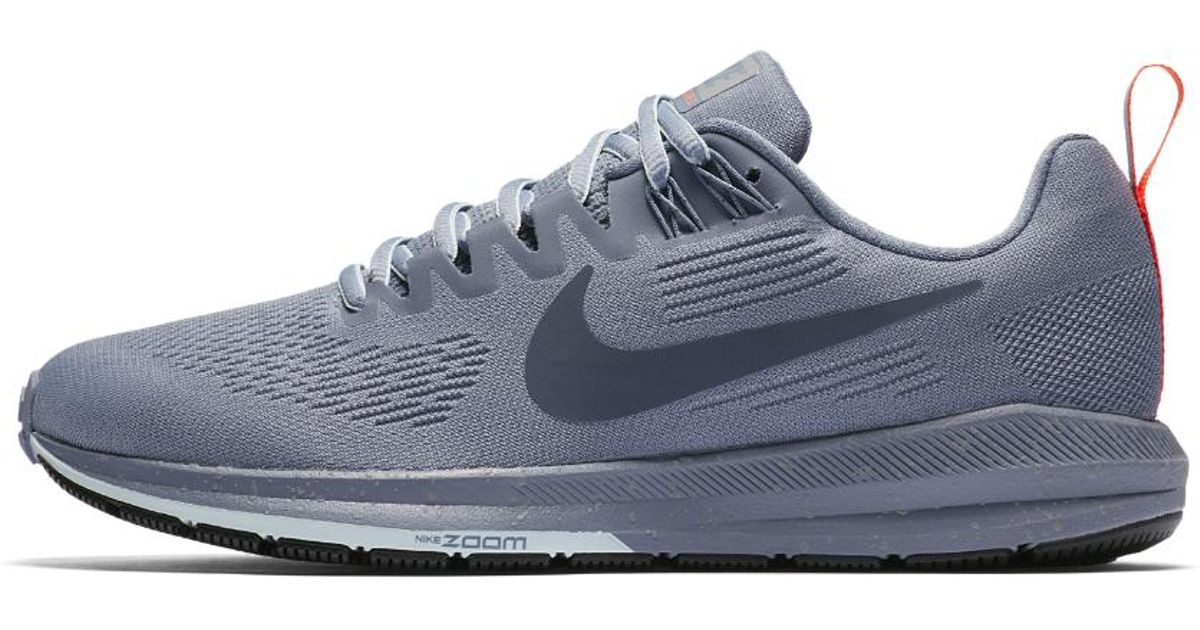 ... wholesale lyst nike air zoom structure 21 shield womens running shoe in  blue 3989a 39f3f fb2bef8ee