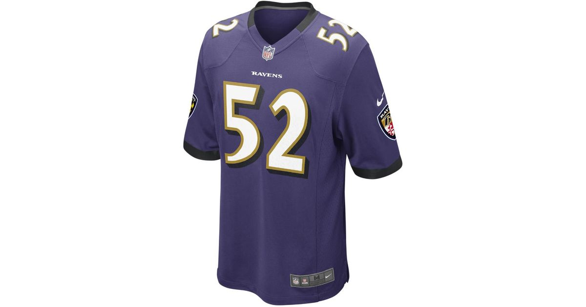 902b4d3c070b Lyst - Nike Nfl Baltimore Ravens (ray Lewis) Men s Football Home Game Jersey  in Blue for Men