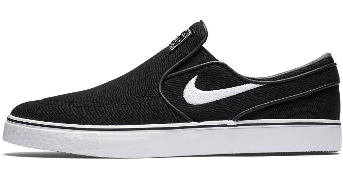 separation shoes f0f48 dcc26 Lyst - Nike Sb Zoom Stefan Janoski Slip-on Skateboarding Shoe in Black for  Men - Save 41%