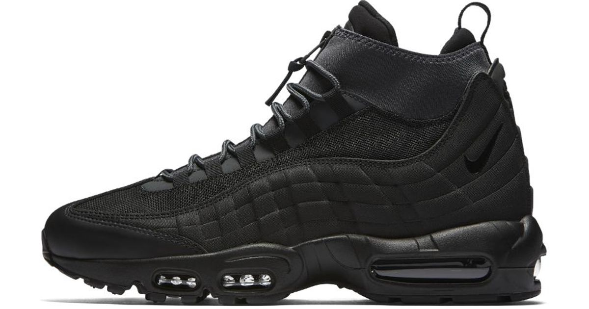 best website 1d48e 586b1 ... official store lyst nike air max 95 sneakerboot mens boot in black for  men e7bfb bbe52