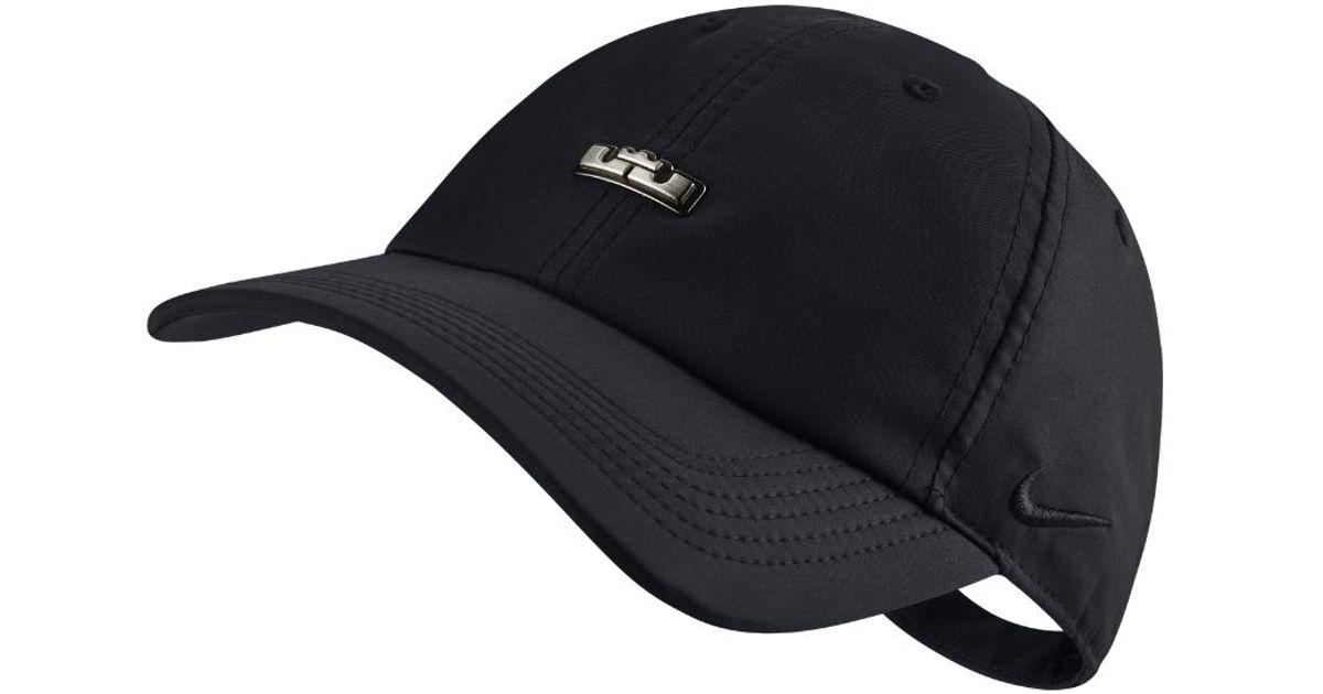 Lyst - Nike Lebron Heritage 86 Qs Adjustable Hat (black) in Black for Men 45d853e008d